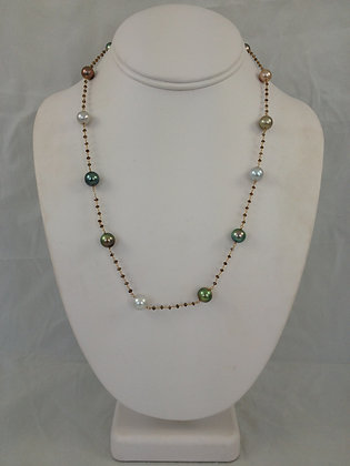 Tahiatian & South Sea Pearls with Brown Diamonds