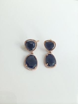 Sapphire, Diamonds & Rose Gold
