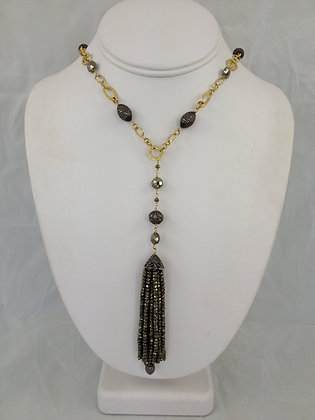 Pyrite & Diamond Tassel
