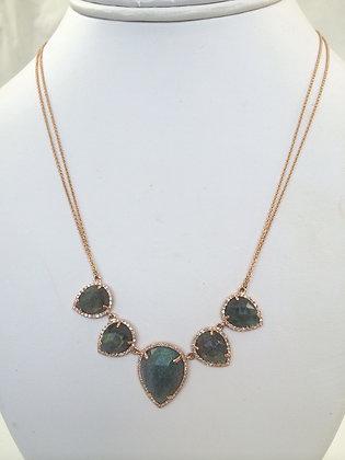 Labradorite & Rose gold Necklace