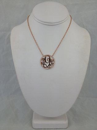 Monogram Neckalce with Diamonds