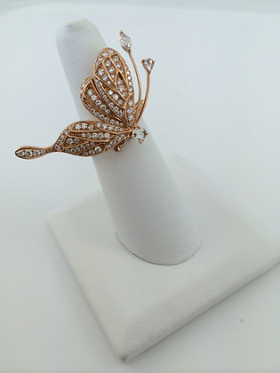 Rose Gold & Diamond Butterfly Ring