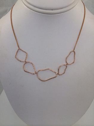 Pebble Gold & Diamond Necklace