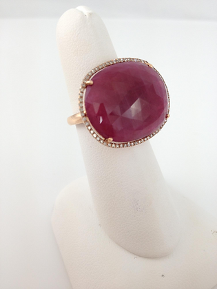 Oval Ruby and Diamonds
