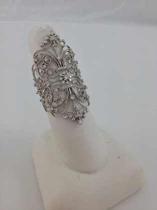 Diamond Web with White Gold