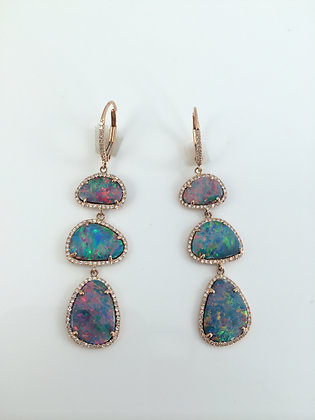 Opal, Diamonds & Rose Gold