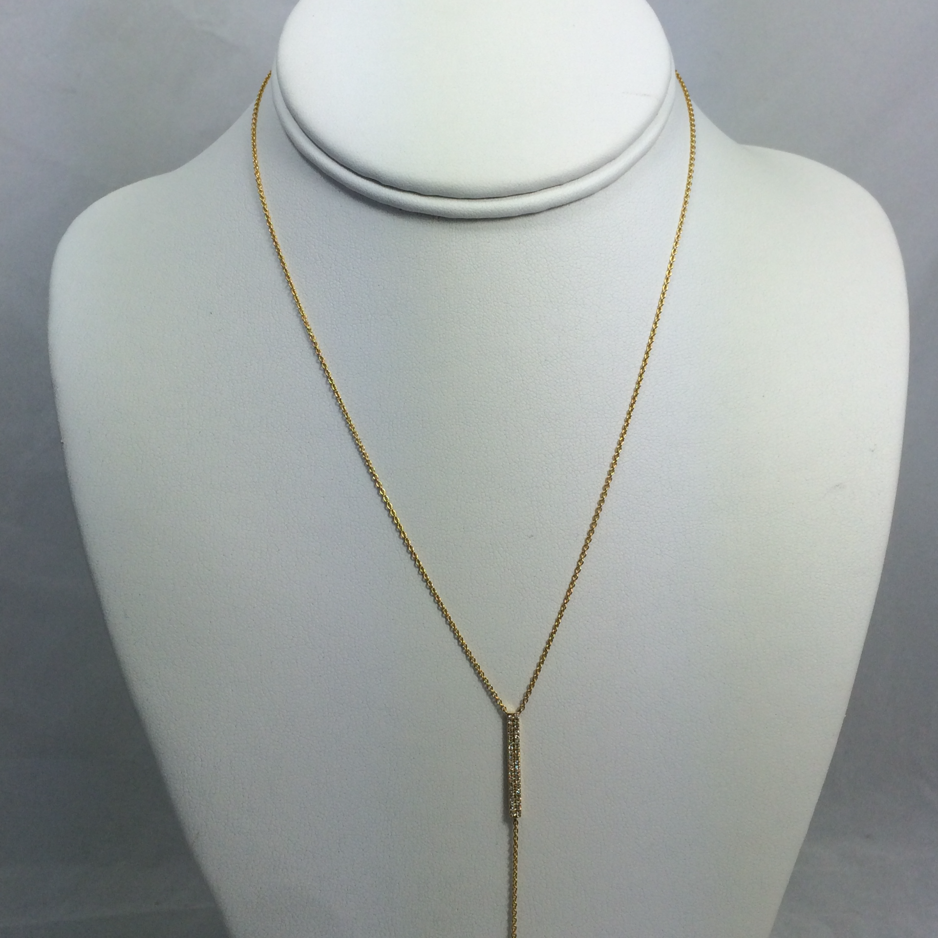 Vertical Bar Diamond Necklace