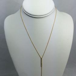 Vertical Bar Diamond Necklace