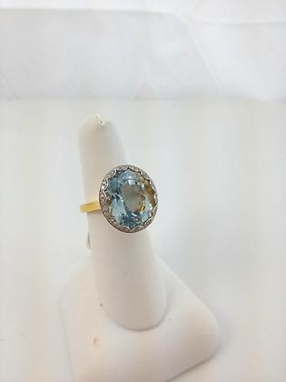 Diamonds and Blue Topaz
