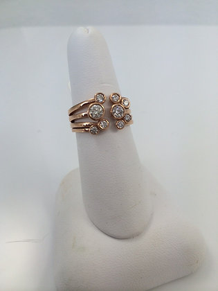 Rose Gold & Diamond Popcorn Ring