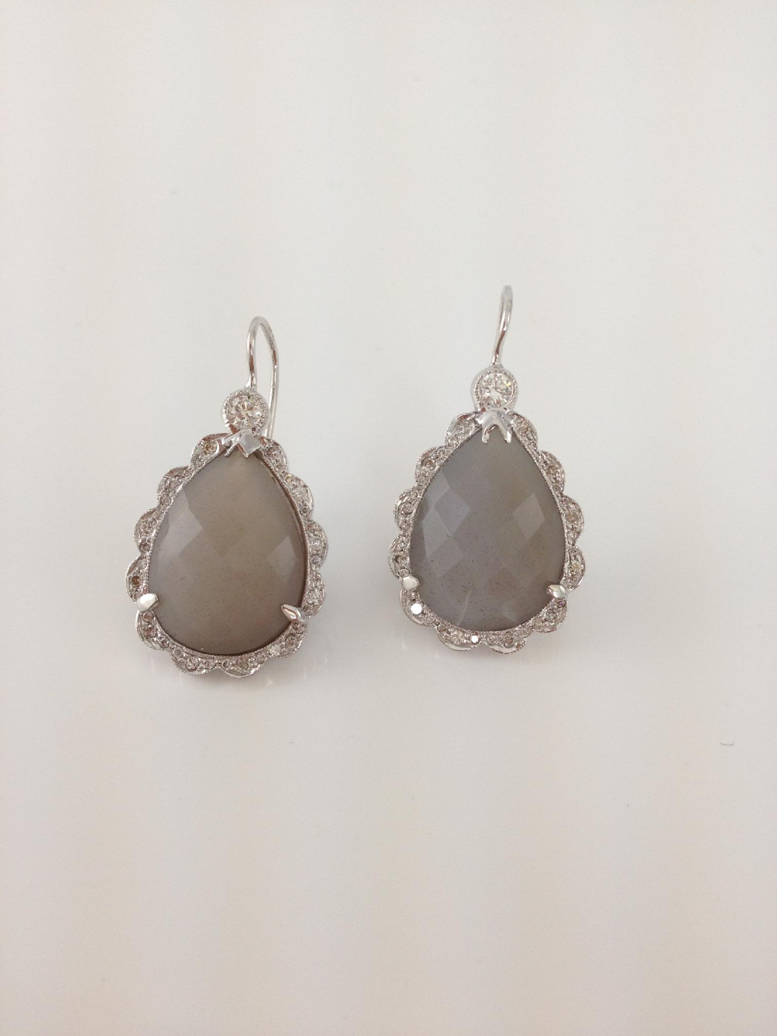 Moonstone with Diamonds