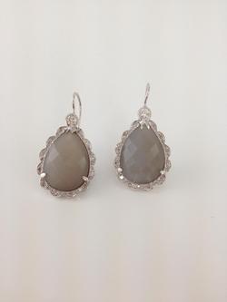 Moonstone with Diamonds