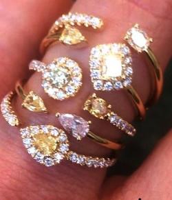5 level diamond ring