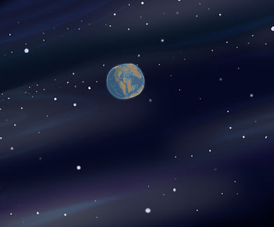 big space planet earth in