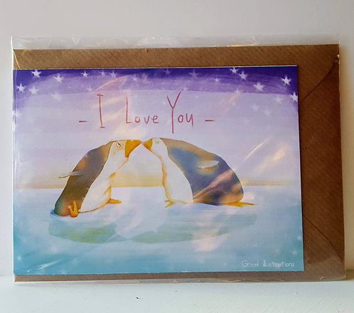 I love you - A6 Greeting Card