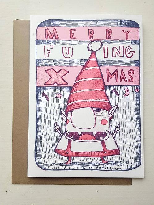 Merry Fu...ing Xmas -  Greeting Card