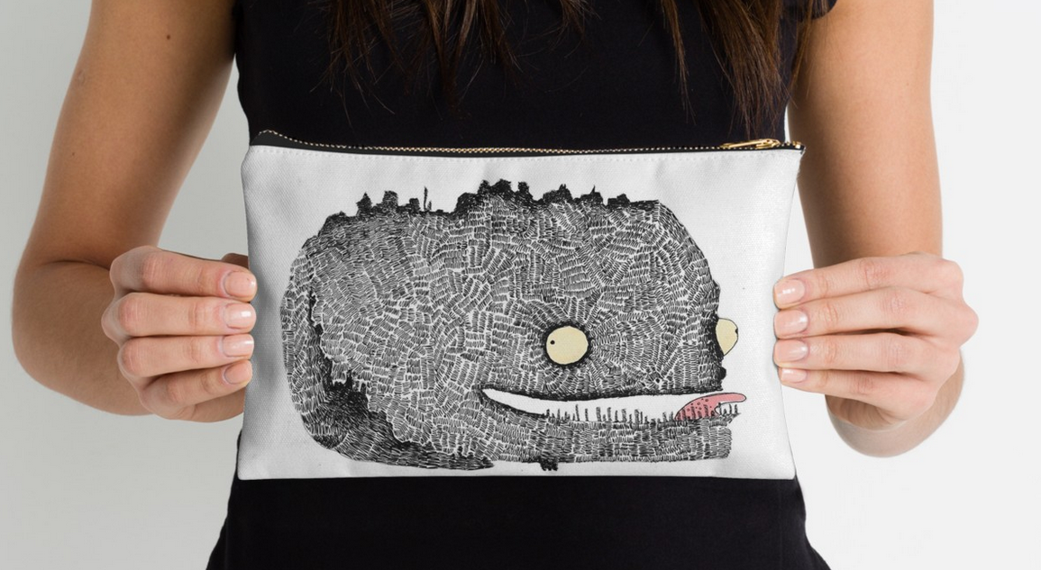 'Scribbly Monster' Pouch
