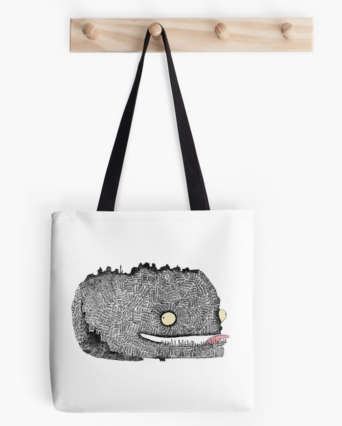 Scribbly Monster Tote bag
