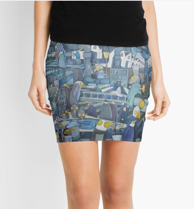 'Pipes' Mini skirt