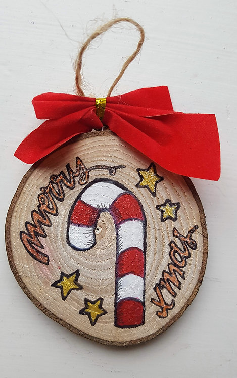 Candy Stick - Wooden Art Decoration