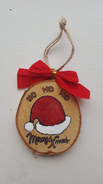 Ho-Ho-Ho Merry Christmas - Wooden Art decoration