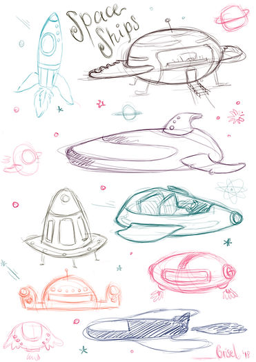 Space ships props