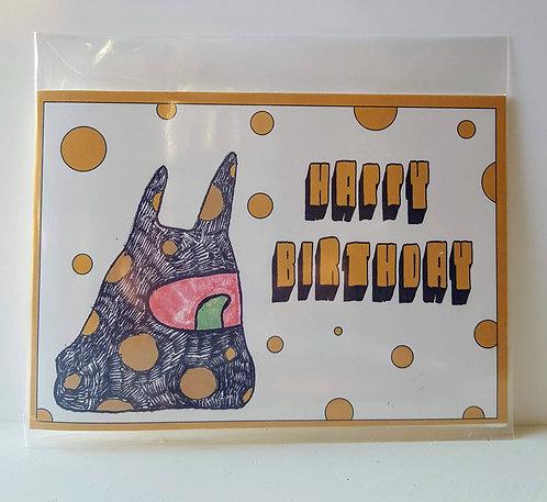 Happy birthday - A6 Greeting Card