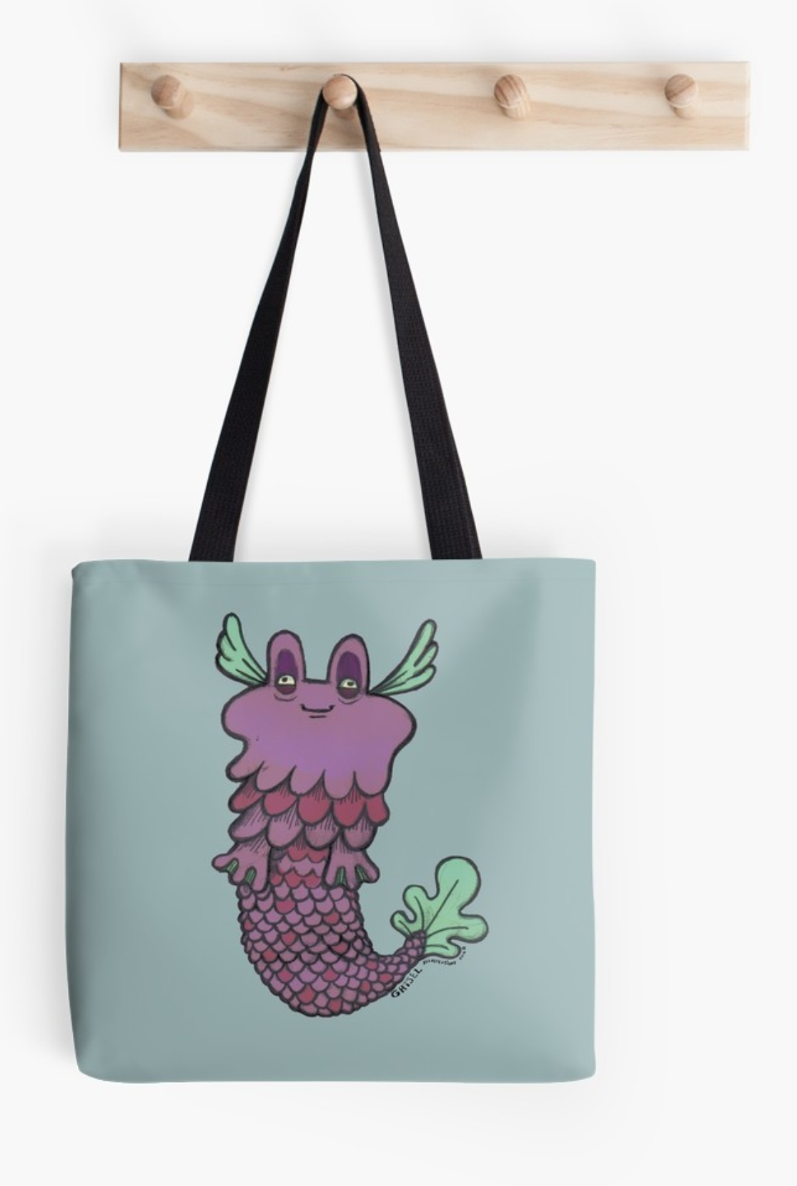 Purple Eddie Tote Bag