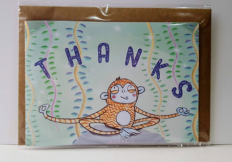 Thanks - A6 Greeting Card