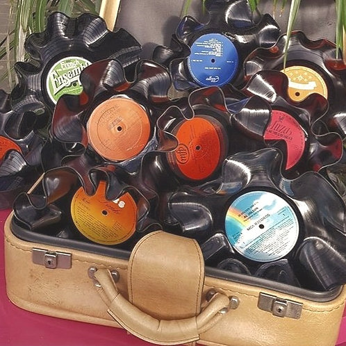 Vinyl Bowls  -  Set of 3 for £9.90