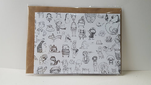 All my pals - A6 Greeting Card