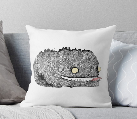 Scribbly Monster Pillow