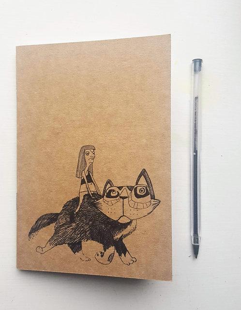 Cat Rider A6 Notebook