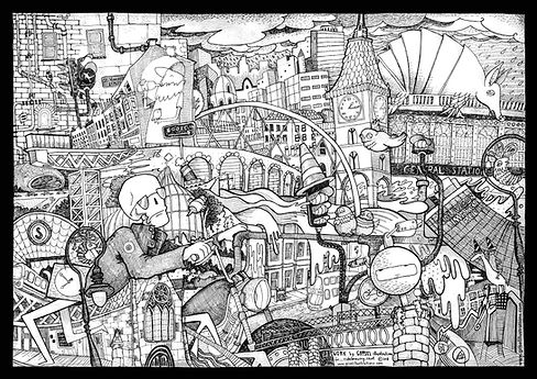 Glasgow Painting, Ride beer, ride brewery, glasgow, glasgow uk, glasgow makes beer, illustration, design, beer label, urban scene of glasgow, black and white drawing, ink, commission work, ride glasgow, glasgow artist, art in glasgow, Bordello, illustration, grisel illustrtions, drawing, square head women, colours, colourful, concept, futuristic, art, glasgow artist About Grisel | Glasgow | UK | Scotland | Grisel Illustrations Grisel illustration's CV, Glasgow, illustrator, education, profile, experience, social, awards. GLASGOW Illustrator artist art shop gift shop glasgow based artist glasgow based illustrator gift shop art shop glasgow