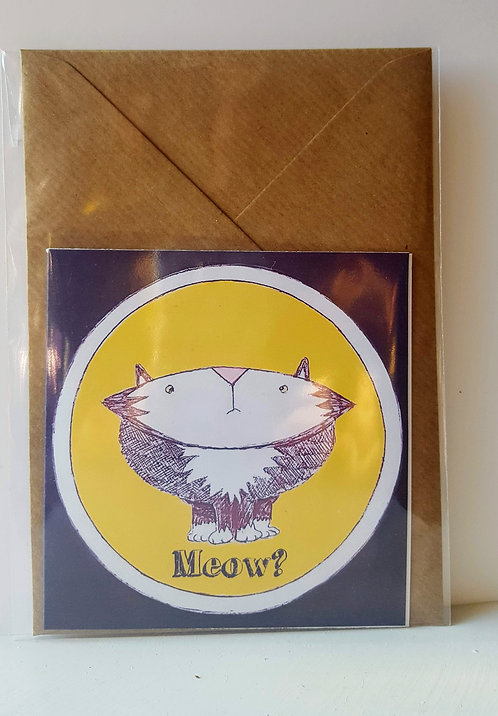 Meow - A6 Greeting Card