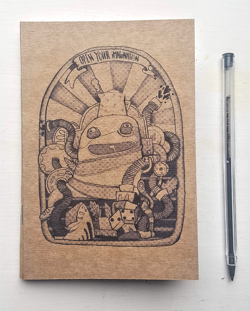 Open your imagination A6 Notebook