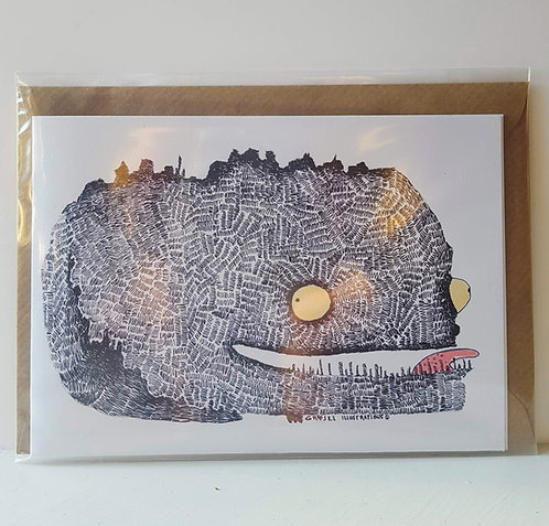 Scribbly Monster - A6 Greeting Card