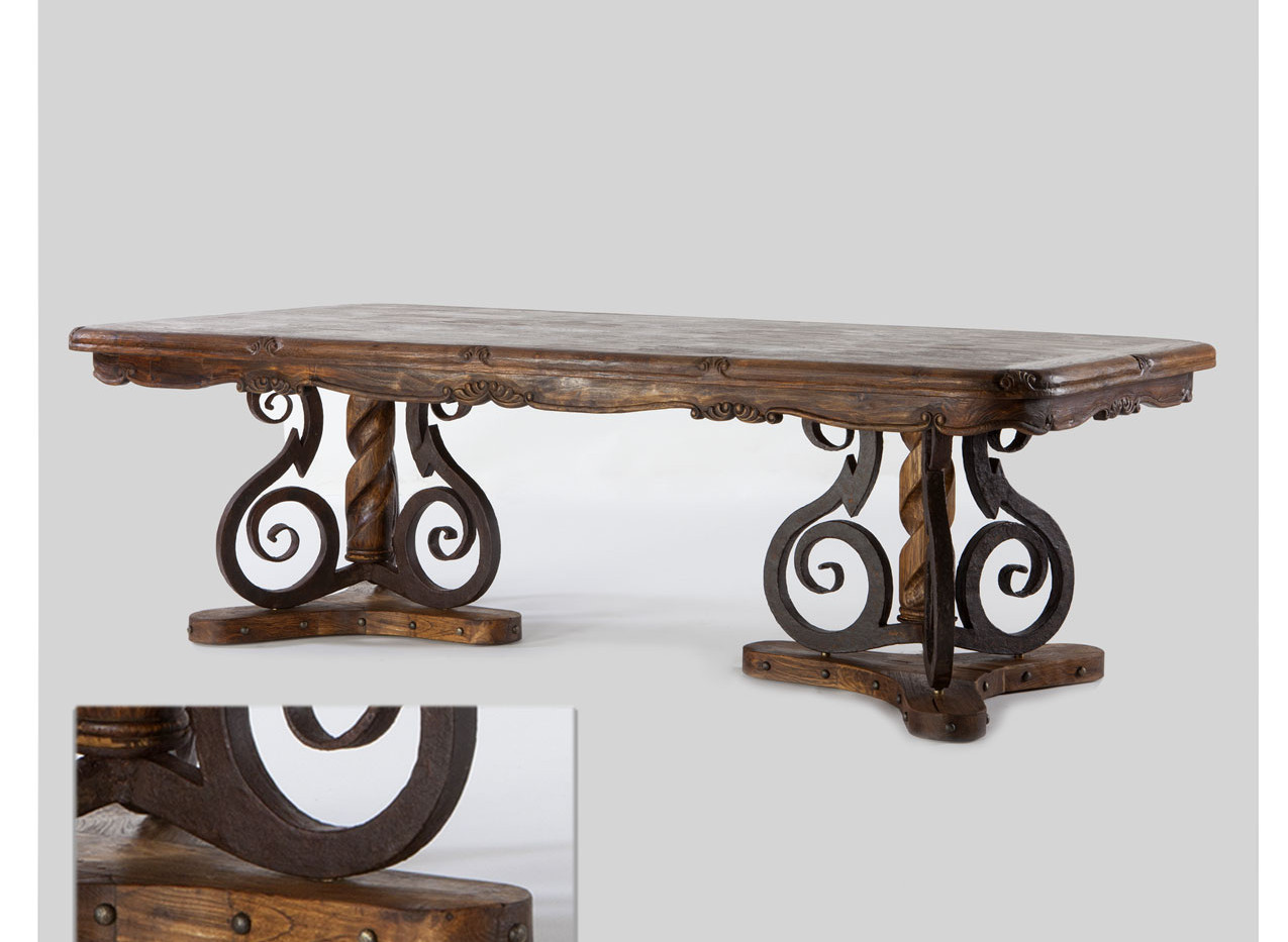 Jason Scott Iron Base Dining Table