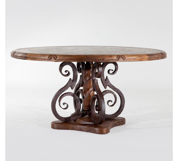 Jason Scott Round Dining Table with Iron Base