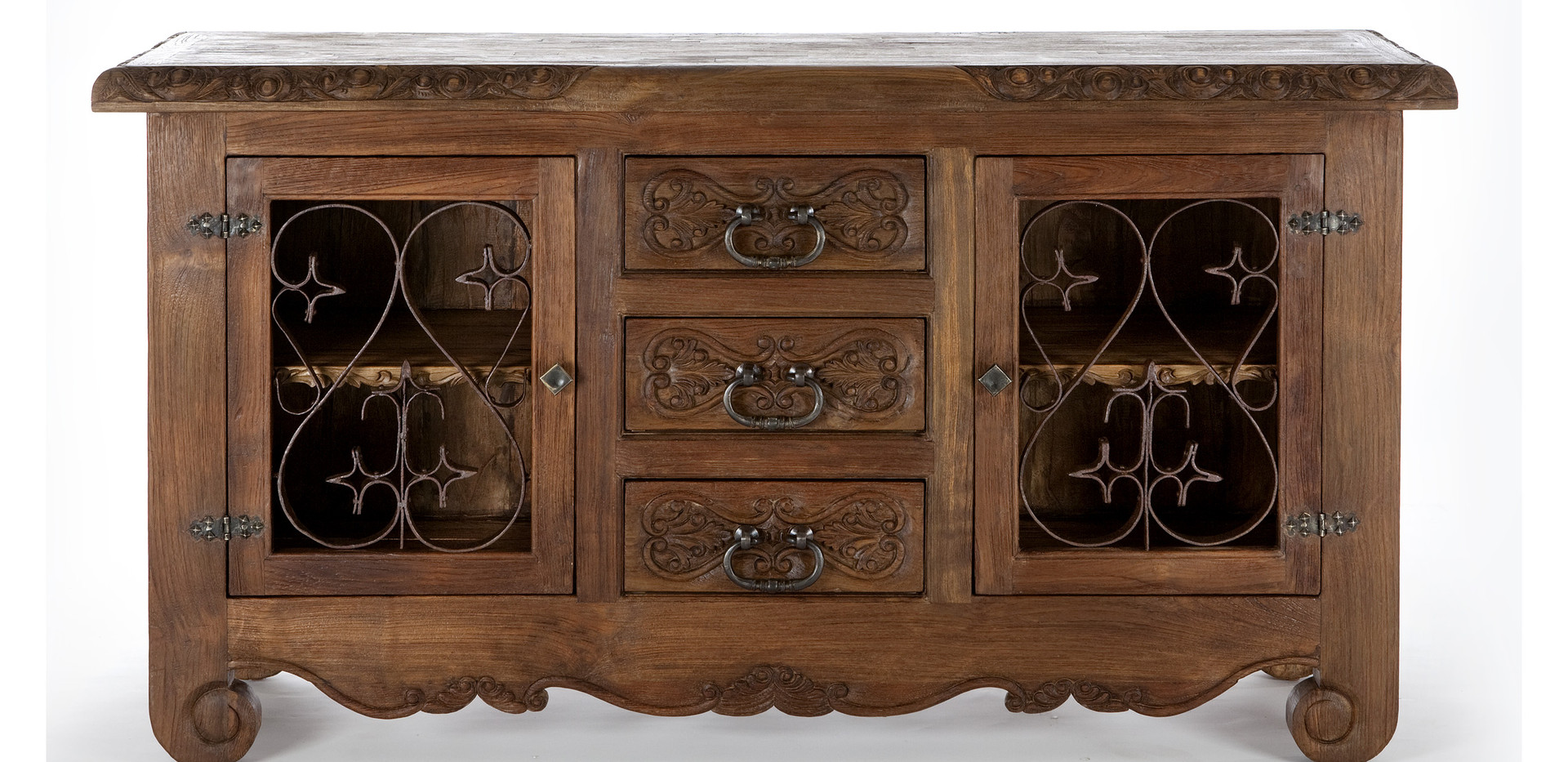 Jason Scott Lovina Buffet Small with Iron Doors