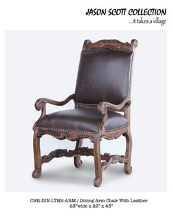 Jason Scott Leather Armchair