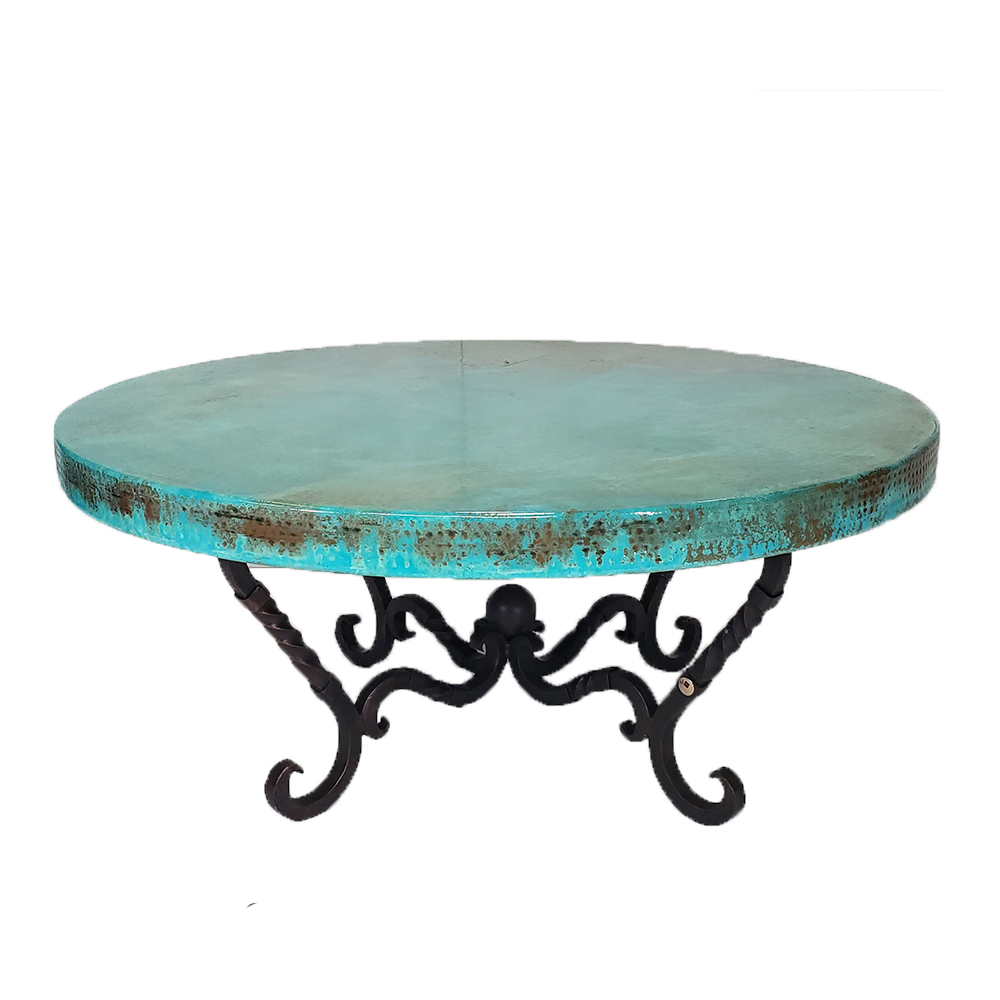 Oxidized Copper Coffee Table
