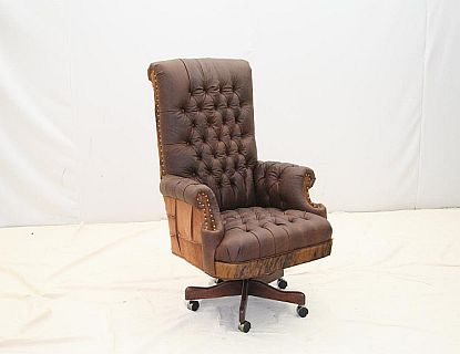 Old Hickory Tannery Office Chair