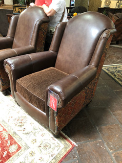 Leather Fabric Chair