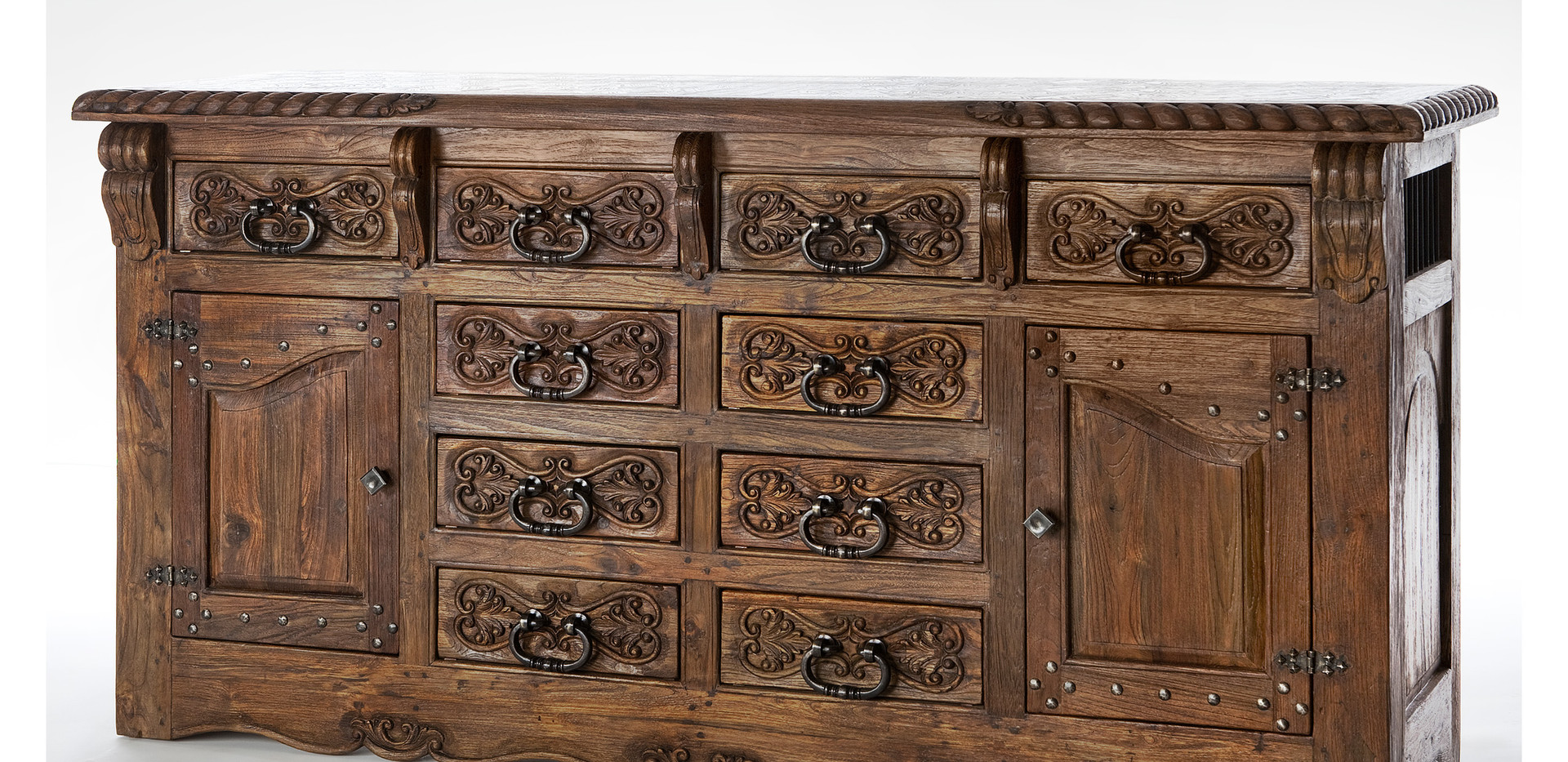 Jason Scott 10 Drawer Studded Door Buffet