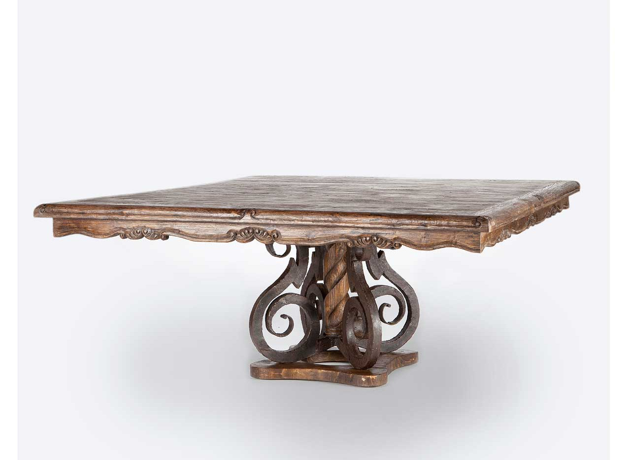 Jason Scott Square Dining Table with Iron Base