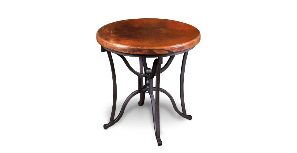 Southwest Copper Round End Table