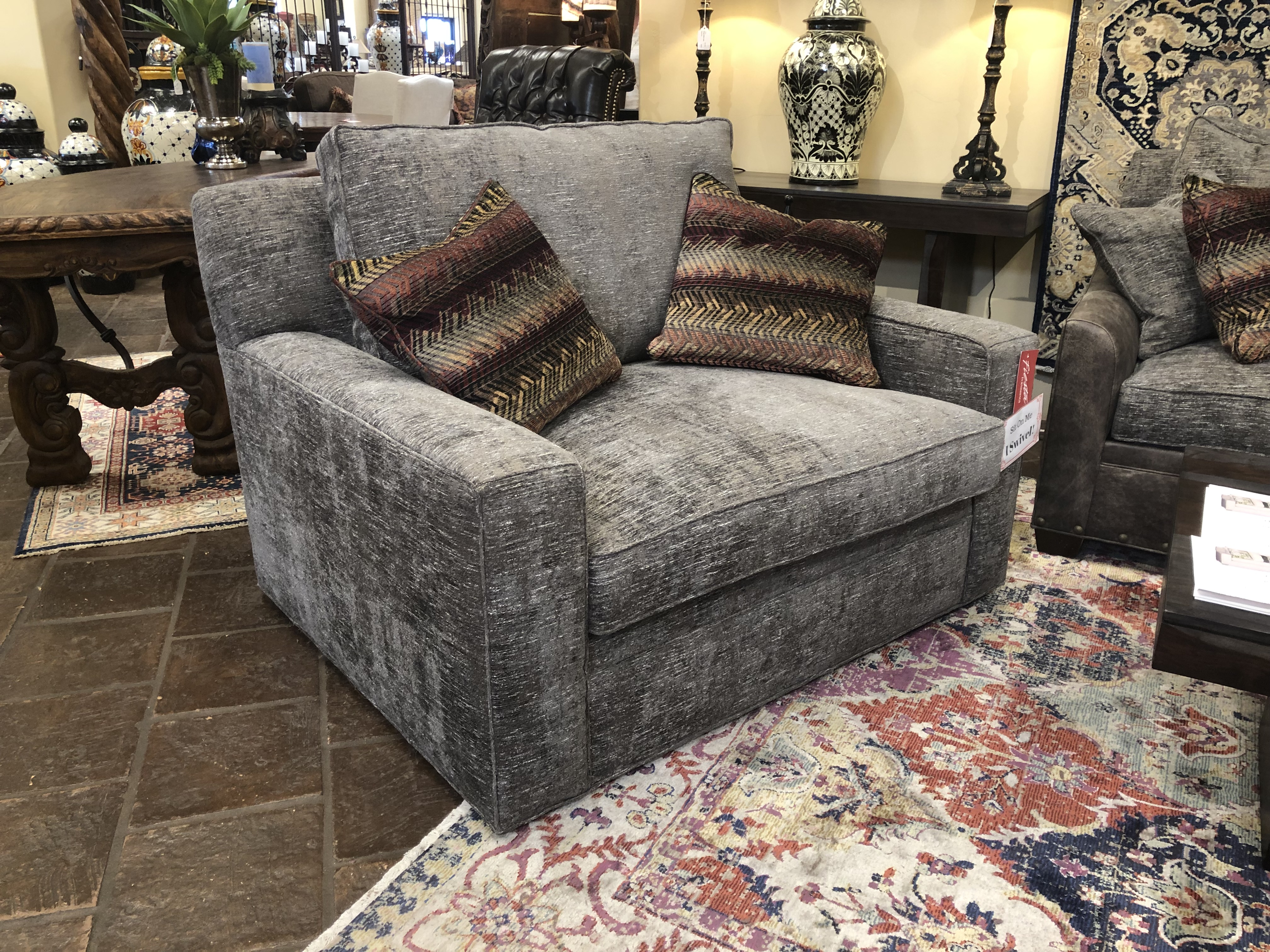 Paul Robert Swivel Loveseat