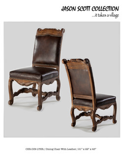 Jason Scott Leather Side Chairs