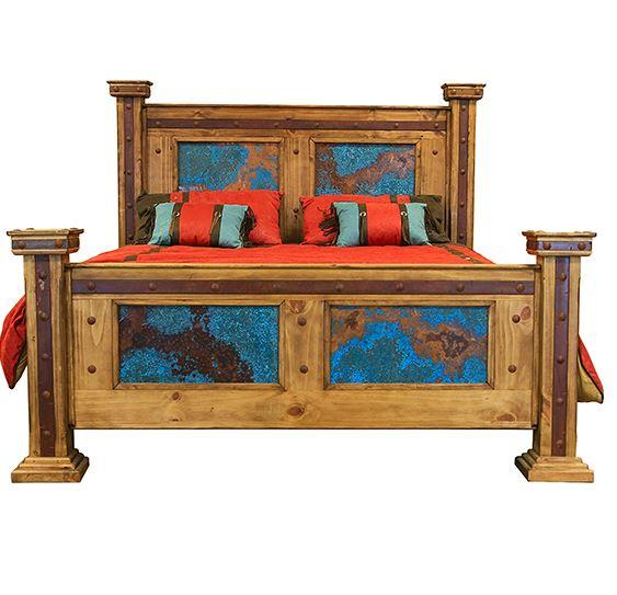 Turquoise Finca Bed